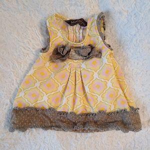 Mustard Pie♡ polka dot crochet mesh dress
